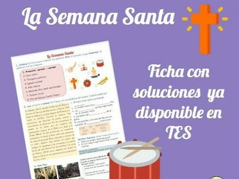 La Semana Santa worksheet with answers. It includes Role Play practise