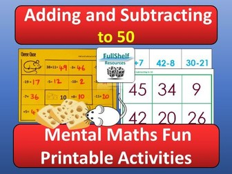 Addition Subtraction Activities within 50