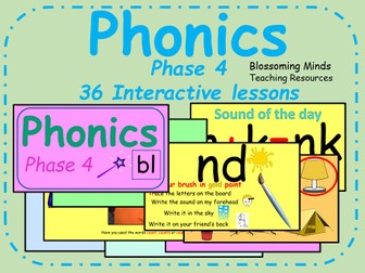 Phonics phase 4 - 36 interactive lessons