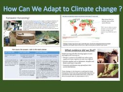 Climate Change adaptions