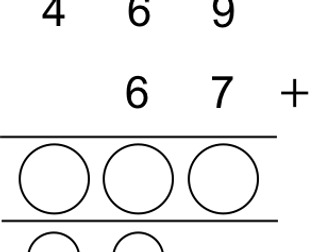 Differentiated addition (column method)
