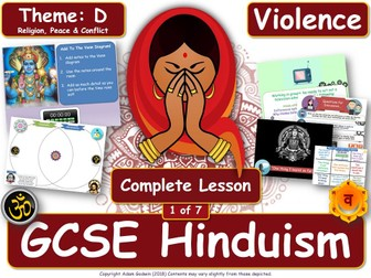 War & Violence - Comparing Hindu & Christian Views (GCSE RS - Hinduism - Peace & Conflict) L1/7