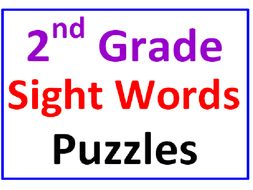 Second Grade Sight Words Word Search Puzzles (2 Puzzles)