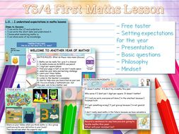 Y3 / Y4 First Maths Lesson of the Year