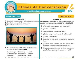 Felicidad - Spanish Speaking Activity