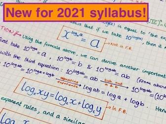 IB Maths AA SL - Topic 1 Algebra Notes