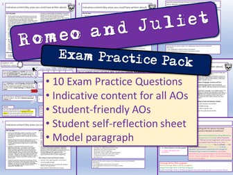 Romeo and Juliet Exam Practice Questions