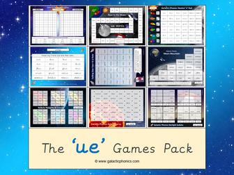 The 'ue' Phonics Games Pack