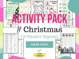Christmas Ultimate Activity Pack for Mandarin Beginners - 圣诞节中文活动集锦