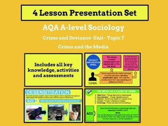 Media and Crime - AQA A-level Sociology - Crime and Deviance Unit - Topic 7