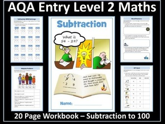 Subtraction AQA Entry Level 2 Maths