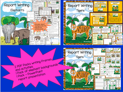 Non Chronological Report Packs + PowerPoint / Smart boardPresentations