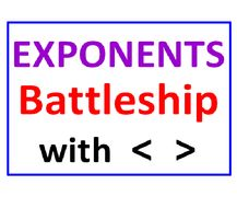 Exponents Battleship with Greater Than Less Than