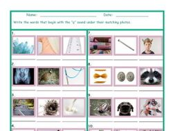 Phonics Q Sound Photo Worksheet