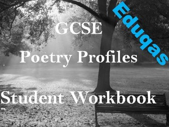 Student Poetry Workbook - Eduqas Poetry - Grids for Poetry Analysis + Exam Preparation