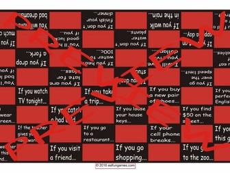 Conditional Sentences Types 0 & 1 Checker Board Game