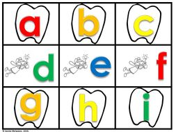 Letters/Sounds Game: Dental Health
