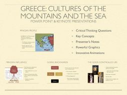 Greece: Cultures of the Mountains and The Sea PowerPoint & Keynote Presentations