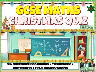 GCSE Maths Christmas Quiz 2020