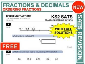 KS2 Maths (Ordering Fractions + Decimals)
