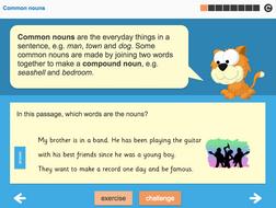 Nouns Interactive Teaching Presentation - Year 3 Spag
