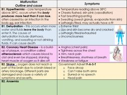 BTEC Level 3 HSC - Unit 3 Anatomy and Physiology Revision activities, games  and summary sheets