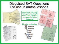 Disguised SATs questions (for use in Maths lessons)