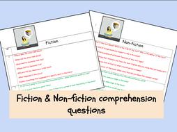 English- Fiction & Non-fiction comprehension questions