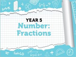 Year 5 Fractions Week 7