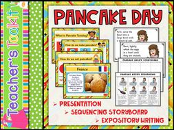 Pancake Day | Shrove Tuesday | PowerPoint | Sequencing | How to Writing