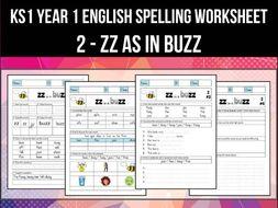 Spelling & Phonics Worksheet - z sound spelled ZZ by ...