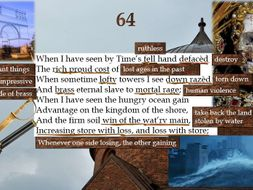 Line by Line: Shakespeare's Sonnet 64