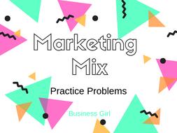 Marketing Mix Practice Problems