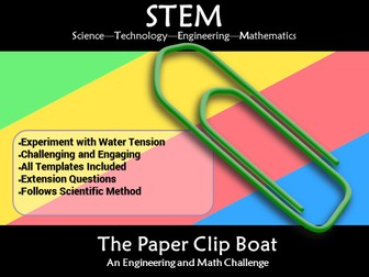 STEM Paperclip Boat Water Tension: A Science and Engineering Challenge