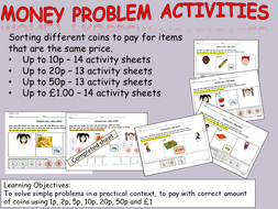 money cut and paste sorting coins activities to pay for items up to 10p 20p 50p and 1 ks1. Black Bedroom Furniture Sets. Home Design Ideas