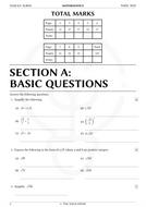 Year 9/10 Surd Exam