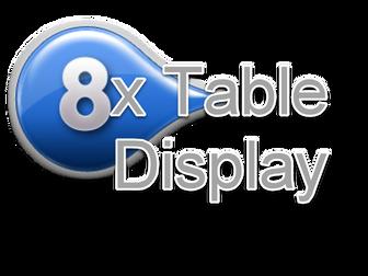 8 Times Table Display