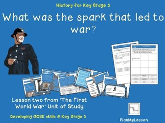 What was the spark that led to the First World War?