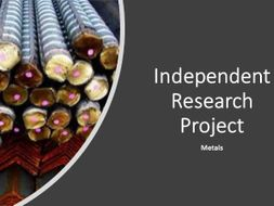 Independent Research Project - metals - Differentiation Tool - revised