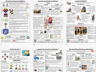 9-1 British Medicine: Medieval Medicine Revision Pack