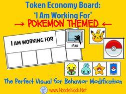Token Economy- Visual Behavior Modification featuring POKEMON!