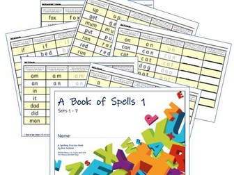 Phonics for SEN: Book of Spells 1 - Spelling Practice Books - Sets 1-7 - One Set a Page