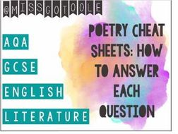AQA Poetry Cheat Sheets: How to Answer Each Question