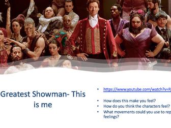 Greatest showman Dance Scheme of Work