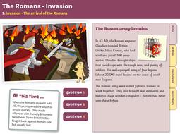 The Arrival of the Romans - Interactive Teaching Book - Roman Britain KS2