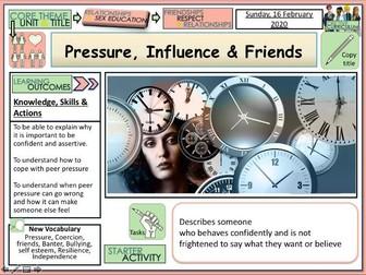 Pressure Influence Friends - PSHE
