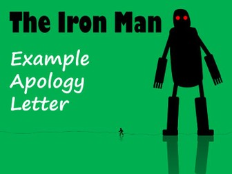 The Iron Man - Example Apology Letter from Hogarth with Feature Identification