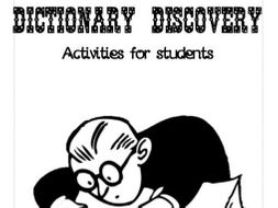 Dictionary Discovery - Activities for students