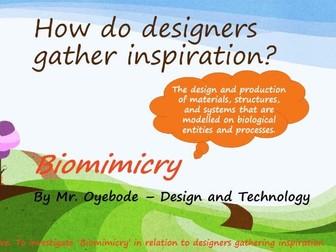 How do designers gather inspiration? Biomimicry