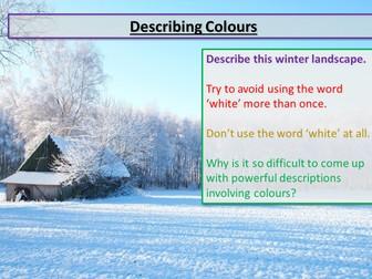 Christmas Descriptive Writing Colours